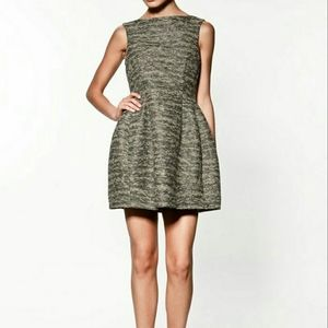 Zara tweed metallic tulip dress so sparkly! SzS
